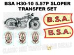 BSA H30-10 557cc 1930 Transfer Decal Set